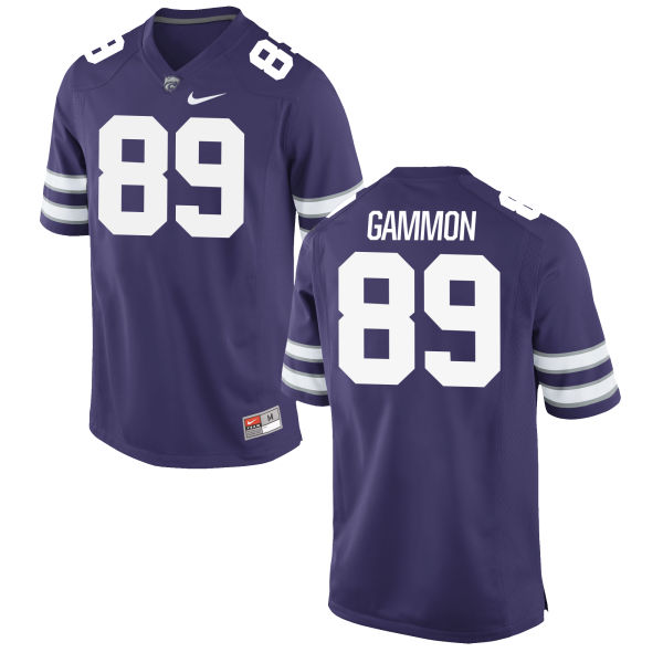 Men's Nike Blaise Gammon Kansas State Wildcats Replica Purple Football Jersey