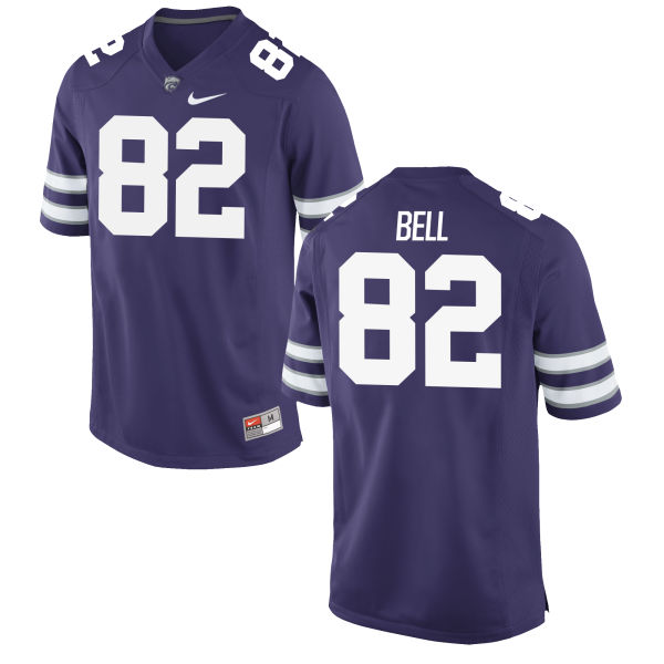 Men's Nike Brett Bell Kansas State Wildcats Game Purple Football Jersey