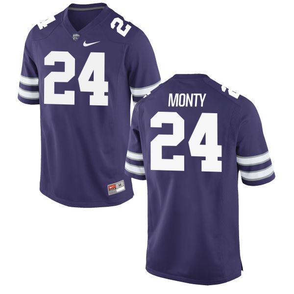 Men's Nike Brock Monty Kansas State Wildcats Replica Purple Football Jersey