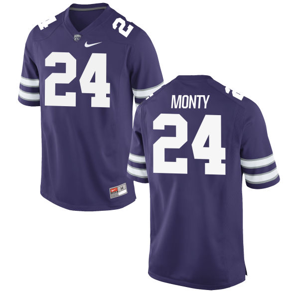 Men's Nike Brock Monty Kansas State Wildcats Game Purple Football Jersey