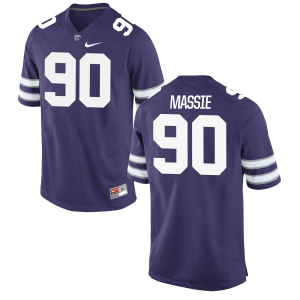 Men's Nike Bronson Massie Kansas State Wildcats Replica Purple Football Jersey