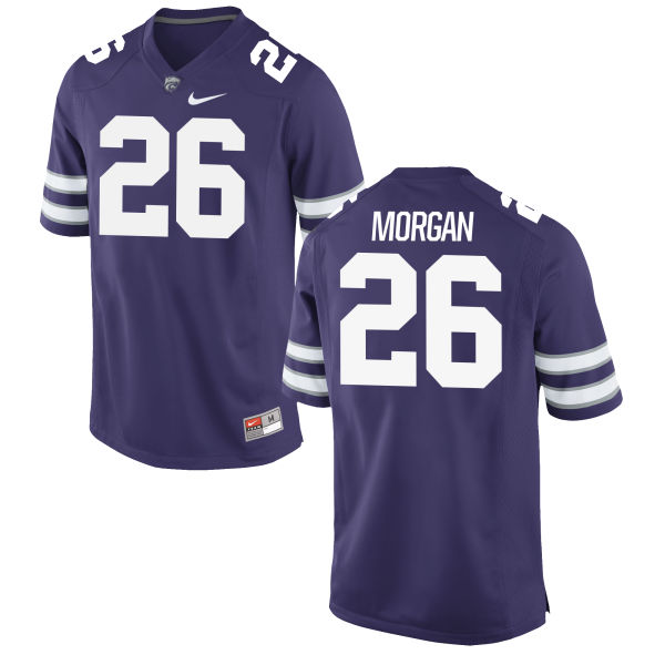 Men's Nike Cameron Morgan Kansas State Wildcats Game Purple Football Jersey