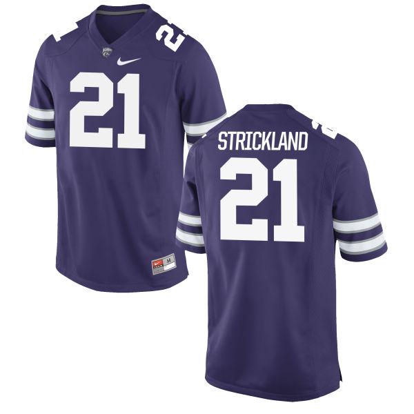 Men's Nike Carlos Strickland Kansas State Wildcats Game Purple Football Jersey