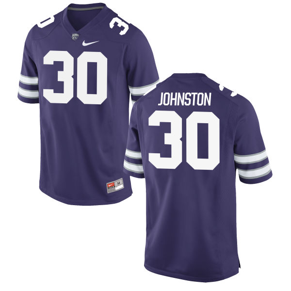 Men's Nike Chase Johnston Kansas State Wildcats Game Purple Football Jersey