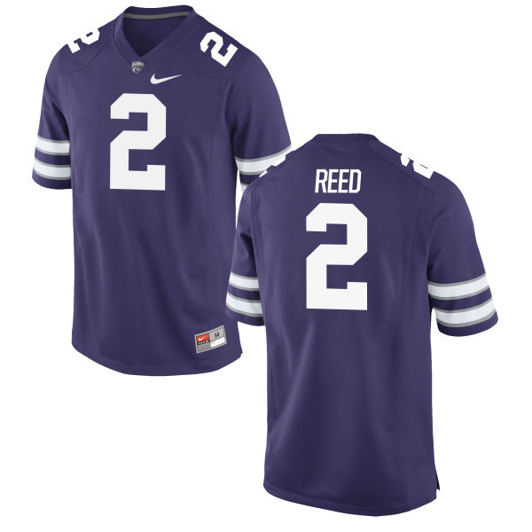 Men's Nike D.J. Reed Kansas State Wildcats Game Purple Football Jersey
