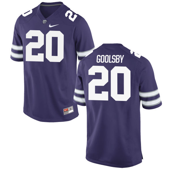 Men's Nike Denzel Goolsby Kansas State Wildcats Game Purple Football Jersey