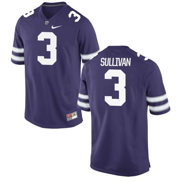 Men's Nike Elijah Sullivan Kansas State Wildcats Game Purple Football Jersey