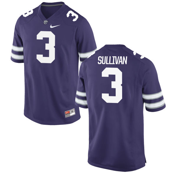 Women's Nike Elijah Sullivan Kansas State Wildcats Game Purple Football Jersey