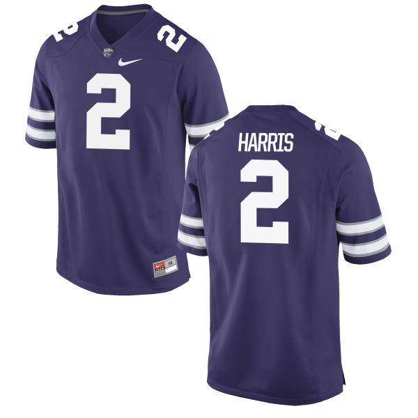 Men's Nike Isaiah Harris Kansas State Wildcats Limited Purple Football Jersey