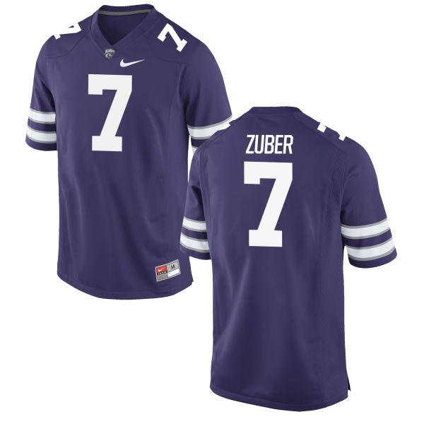 Men's Nike Isaiah Zuber Kansas State Wildcats Replica Purple Football Jersey