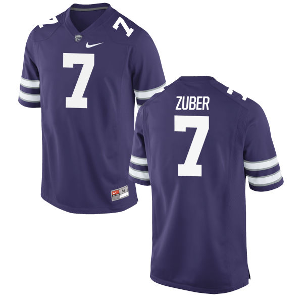 Men's Nike Isaiah Zuber Kansas State Wildcats Game Purple Football Jersey