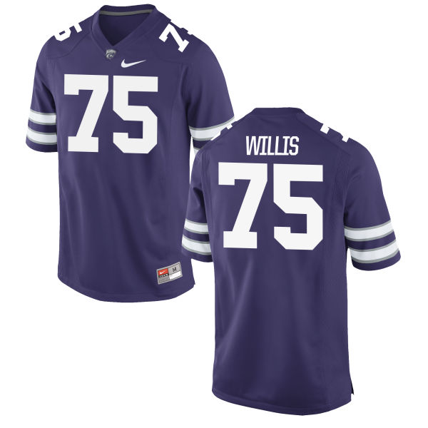 Men's Nike Jordan Willis Kansas State Wildcats Replica Purple Football Jersey