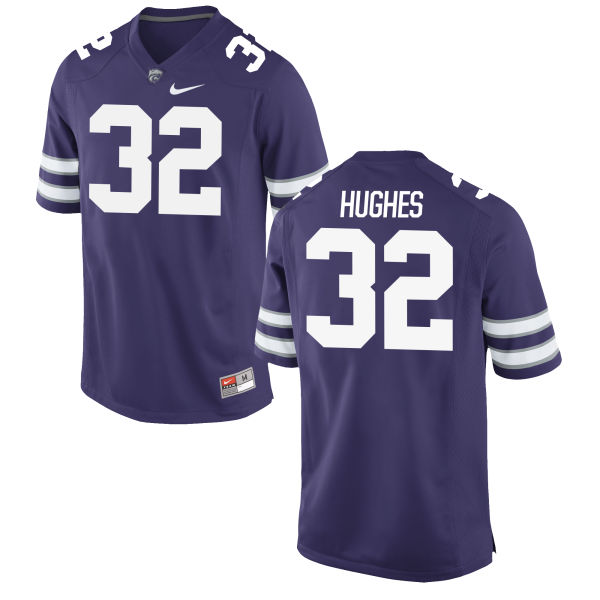 Men's Nike Justin Hughes Kansas State Wildcats Game Purple Football Jersey