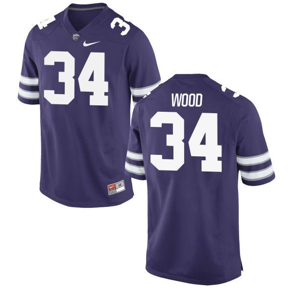 Men's Nike Tanner Wood Kansas State Wildcats Game Purple Football Jersey