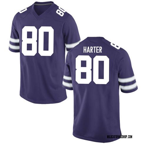 Men's Nike Adam Harter Kansas State Wildcats Game Purple Football College Jersey