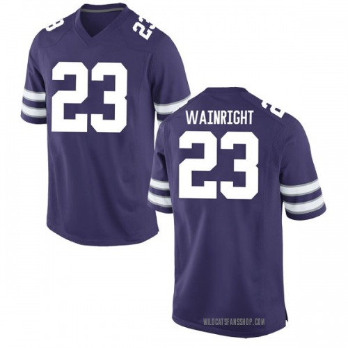 Men's Nike Amaad Wainright Kansas State Wildcats Replica Purple Football College Jersey