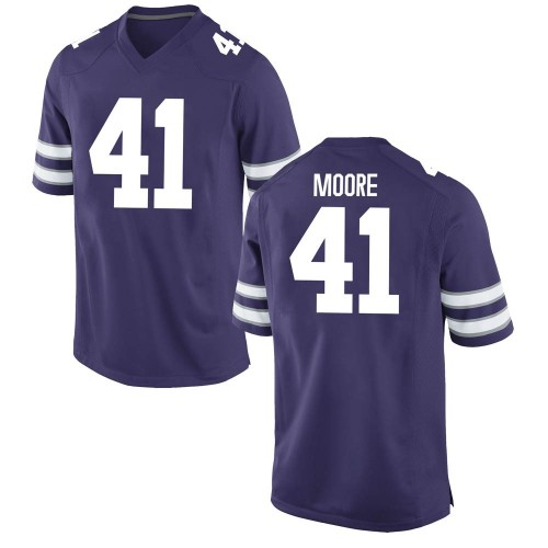 Men's Nike Austin Moore Kansas State Wildcats Replica Purple Football College Jersey