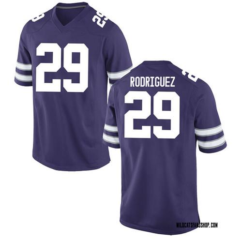 Men's Nike Bernardo Rodriguez Kansas State Wildcats Game Purple Football College Jersey