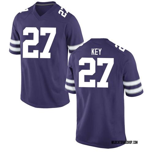 Men's Nike Cameron Key Kansas State Wildcats Replica Purple Football College Jersey
