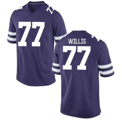 Men's Nike Carver Willis Kansas State Wildcats Replica Purple Football College Jersey