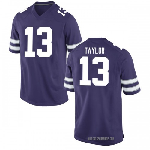 Men's Nike Chabastin Taylor Kansas State Wildcats Game Purple Football College Jersey