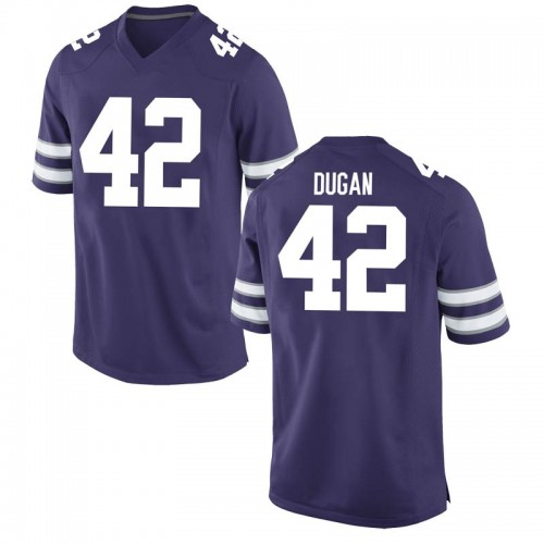 Men's Nike Chris Dugan Kansas State Wildcats Replica Purple Football College Jersey