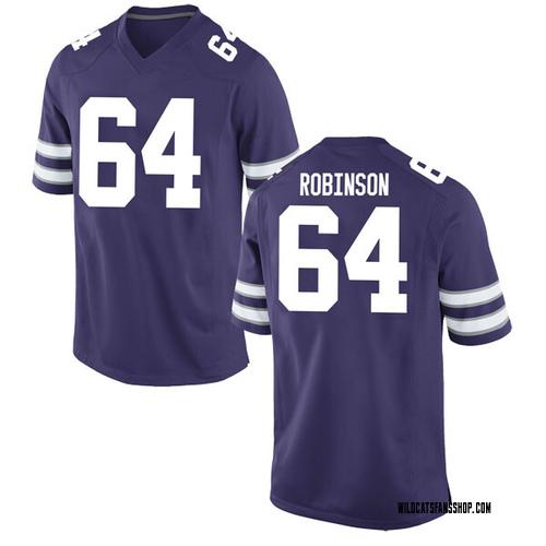 Men's Nike DJ Robinson Kansas State Wildcats Game Purple Football College Jersey