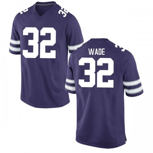 Men's Nike Dean Wade Kansas State Wildcats Game Purple Football College Jersey