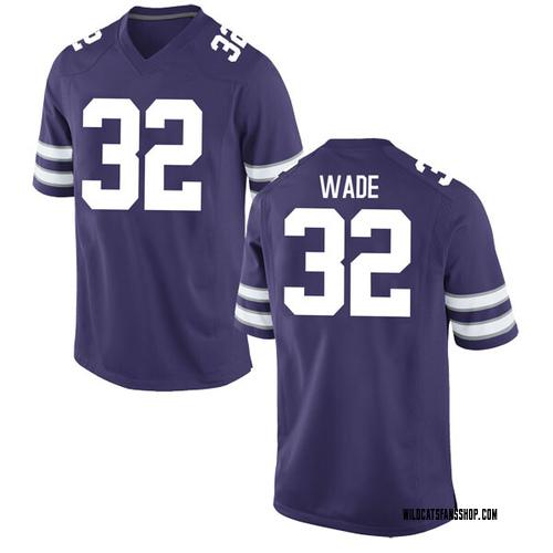 Men's Nike Dean Wade Kansas State Wildcats Replica Purple Football College Jersey