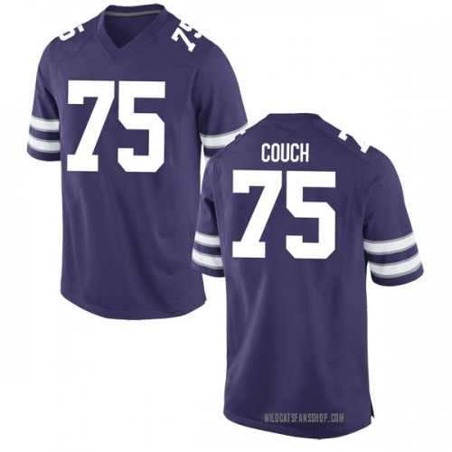 Men's Nike Dylan Couch Kansas State Wildcats Game Purple Football College Jersey