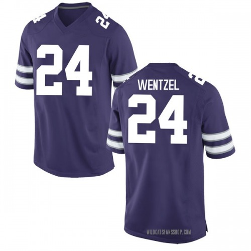 Men's Nike Dylan Wentzel Kansas State Wildcats Game Purple Football College Jersey