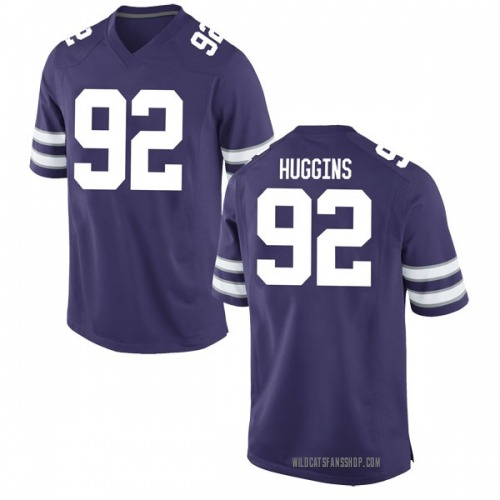 Men's Nike Eli Huggins Kansas State Wildcats Game Purple Football College Jersey