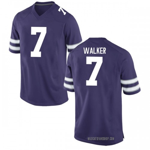 Men's Nike Eli Walker Kansas State Wildcats Game Purple Football College Jersey