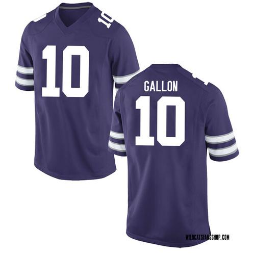 Men's Nike Eric Gallon II Kansas State Wildcats Game Purple Football College Jersey
