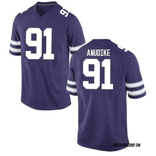 Men's Nike Felix Anudike Kansas State Wildcats Game Purple Football College Jersey