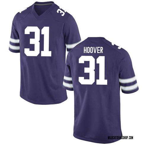 Men's Nike Gabe Hoover Kansas State Wildcats Game Purple Football College Jersey