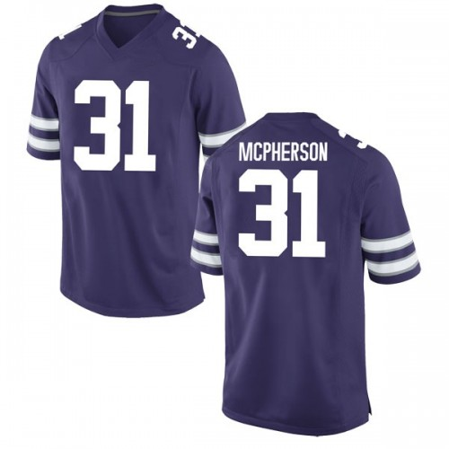 Men's Nike Jahron McPherson Kansas State Wildcats Game Purple Football College Jersey