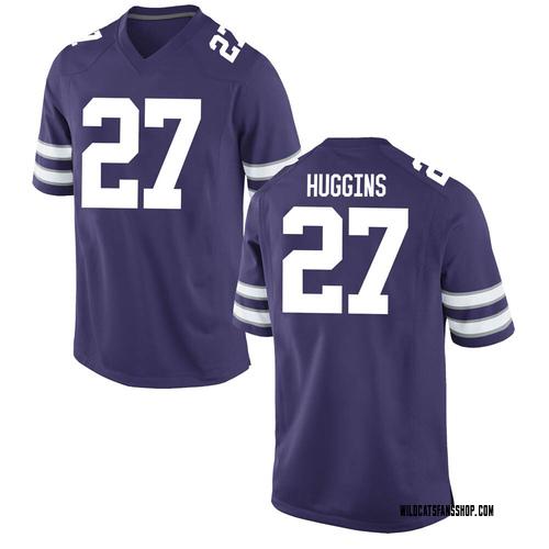 Men's Nike Jake Huggins Kansas State Wildcats Game Purple Football College Jersey