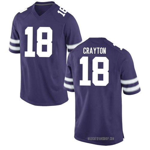 Men's Nike Jay Crayton Kansas State Wildcats Replica Purple Football College Jersey