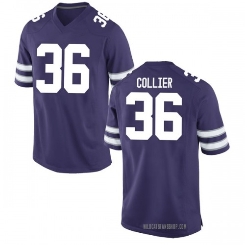 Men's Nike Jeremy Collier Kansas State Wildcats Game Purple Football College Jersey