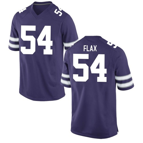 Men's Nike Joe Flax Kansas State Wildcats Game Purple Football College Jersey