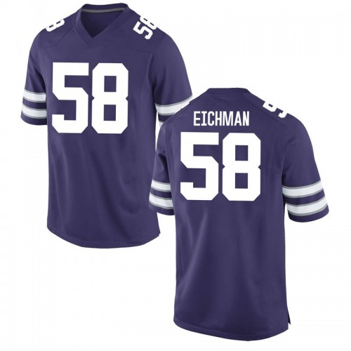 Men's Nike Justin Eichman Kansas State Wildcats Game Purple Football College Jersey
