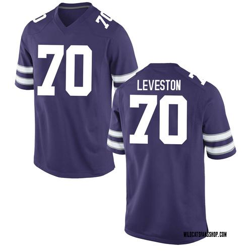 Men's Nike Kaitori Leveston Kansas State Wildcats Replica Purple Football College Jersey