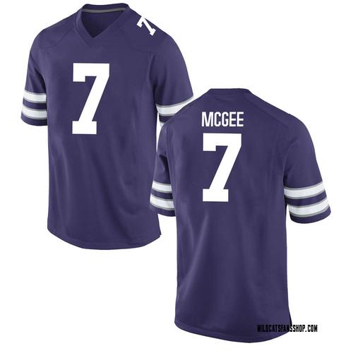 Men's Nike Kevion McGee Kansas State Wildcats Game Purple Football College Jersey