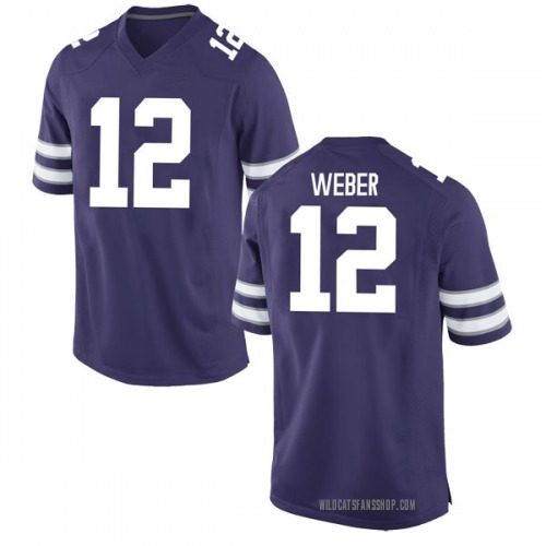 Men's Nike Landry Weber Kansas State Wildcats Game Purple Football College Jersey