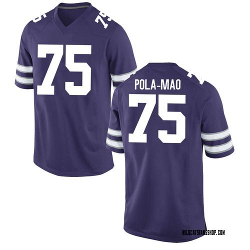 Men's Nike Matthew Pola-Mao Kansas State Wildcats Game Purple Football College Jersey