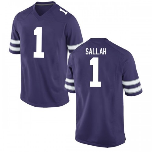 Men's Nike Mawdo Sallah Kansas State Wildcats Replica Purple Football College Jersey