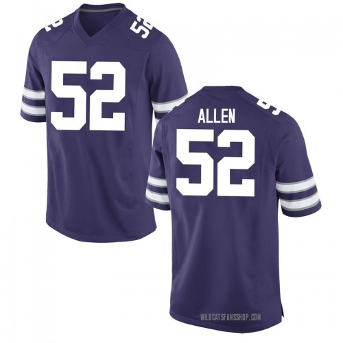 Men's Nike Nick Allen Kansas State Wildcats Game Purple Football College Jersey