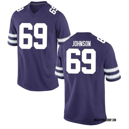 Men's Nike Noah Johnson Kansas State Wildcats Replica Purple Football College Jersey