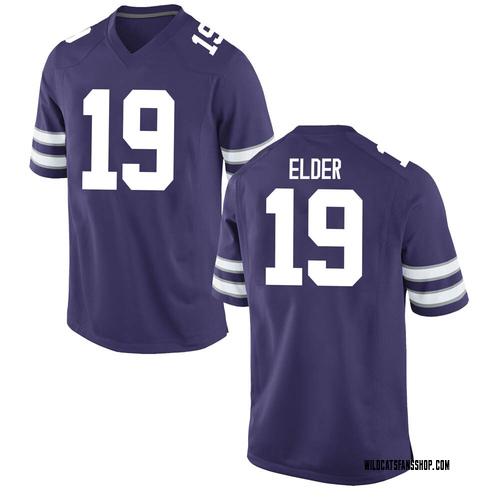 Men's Nike Ross Elder Kansas State Wildcats Game Purple Football College Jersey